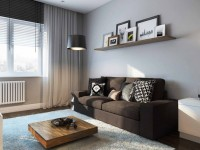 Design af en-værelses lejlighed - 150 fotos i det indre