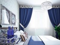 Blå gardiner - 50 fotos af udsøgte blå nuancer i interiøret