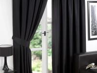Sorte gardiner - 75 fotos af ideer til et elegant interiør