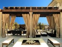 Gardiner til arbors og verandaer - fotos af de bedste ideer til gardiner i arboret