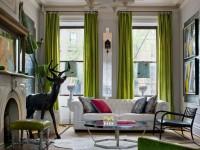 Grønne gardiner - hvordan man skaber et roligt og delikat interiør (70 fotos)
