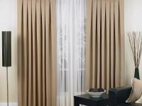 Beige gardiner - de bedste fotoideer til interiørdesign i delikate farver
