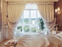 Gardiner i soveværelset - 170 af de bedste fotodesigngardiner til soveværelset