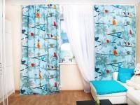 Blå gardiner - gode ideer til en harmonisk kombination i interiøret (90 fotos)