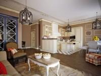 Stue i landlig stil - 100 fotos af smukke designideer
