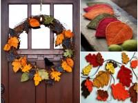 Artisanat à partir de feuilles - (75 photos)