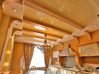 Plafond dans la cuisine - 50 photos des meilleurs intérieurs de cuisine