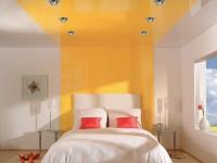Plafond tendu dans la chambre - 150 photos d'idées pour un intérieur moderne