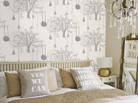 Papier peint dans la chambre - comment choisir? Photos des meilleures nouveautés à l'intérieur de la chambre