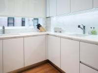 Cuisines en verre: façades, tablier, tables - 80 photos des meilleures idées pour la conception de cuisines design