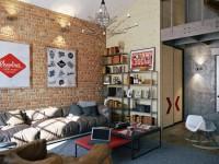 Loft à l'intérieur - une photo des idées de design les plus brillantes