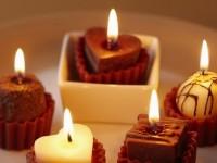 Bougies romantiques à faire soi-même le 14 février