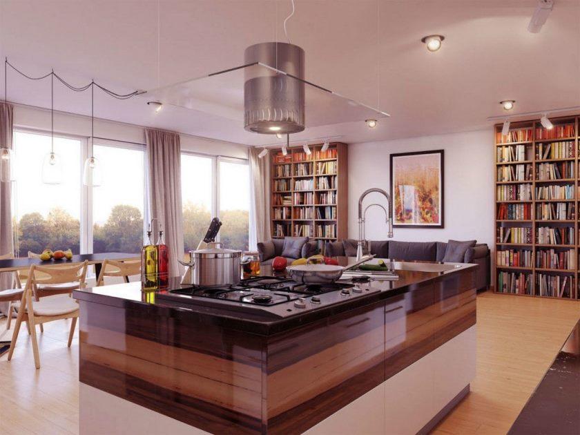 17-stort-køkken-dekoration-hjælp-monteret loft-square-stål-glas-køkken-vent-hætte-inklusive-mørkebrunt-og-sort-moderne-køkken