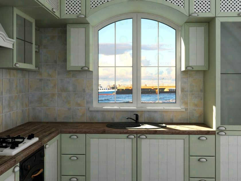 3d-model-køkken-provence-stil-59 195-xxl