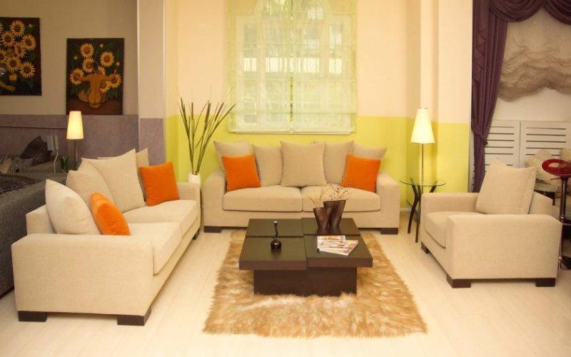 forbløffende-moderne-stue-rum-design-ideer-med-dobbelt-sofaer-møblerede-med-stol-og-færdig-med-mørkebrun-bord