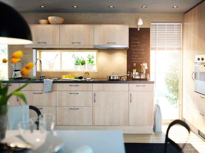 charmerende-interiør-værelse-dekoration-ideer-med-ikea-køkken-kabinet-også-godt-belysning-stativ