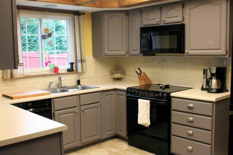 Interiør i et lille køkken