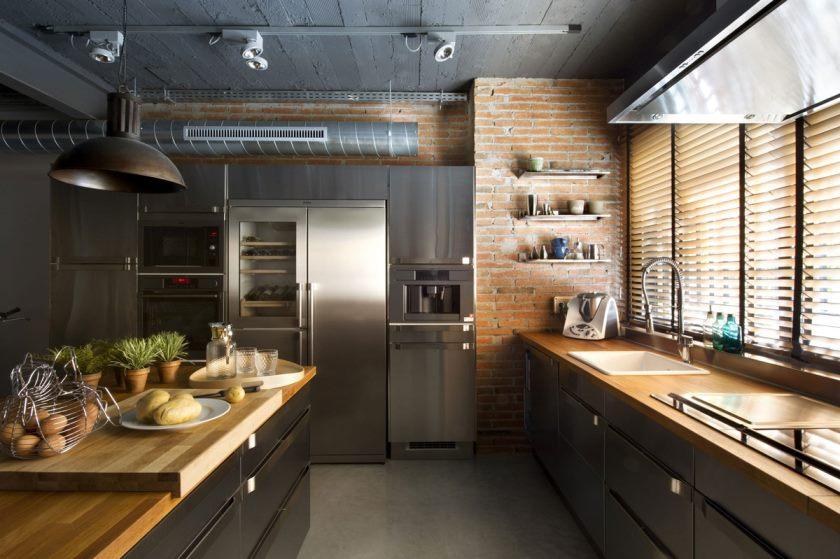 køkken-mursten-væg-ø-loft-stil-home-terrassa-spanien