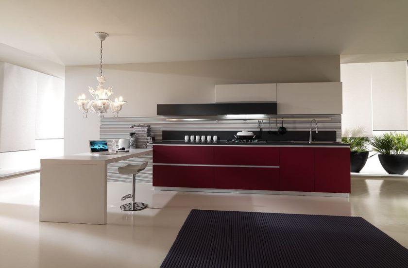 rolig-moderne-køkken-med-rød-hvid-møbler-luksus-rød-køkken