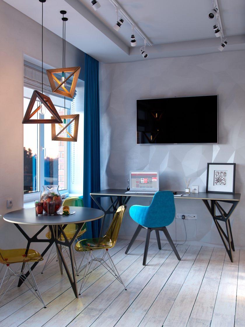 farverig-geometrisk-lille-lejlighed-design-tema
