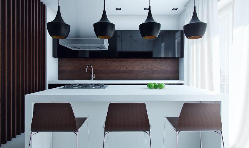 cuisine-moderne-compacte-avec-manger-dans-l'ile