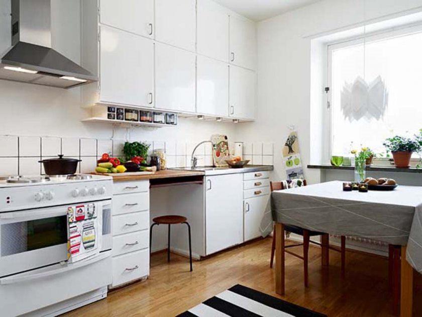 møbler-køkken-lejlighed-dekoration-spisning-værelse-interiør-belysninger populære design-hjem-design-design-lille-køkkener-med-træ-kabinet-og-Sirocco-komfur-hood-design-for-designer- små-køkken