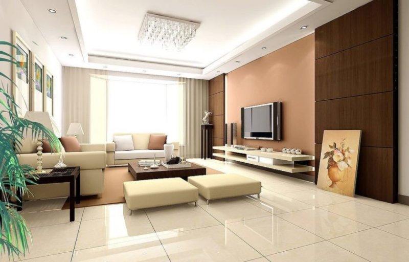 interiør-klassiske-væg-unit-stue-design-ideer-med-hvid-fersken-væg-maling-farver-og-væg-Picture-rammer-også