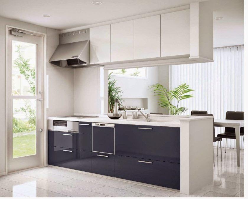 køkken-inventar-dejlig-lille-space-åbent-køkken-design-med-flydende-moderne-køkken-frysere-over-ø-som-godt-som-hvid-keramik-gulv-ideer-idylliske-moderne-køkken- kabinetter-apparater-og-fix