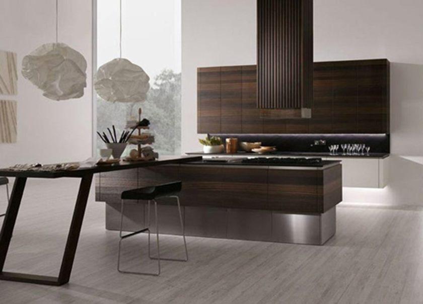 cuisine-moderne-pinterest-simple-parquet-blanc-mur-couleur-en-bois-îlots-de-cuisine-avec-tiroirs-de-rangement-banc-de-cuisine