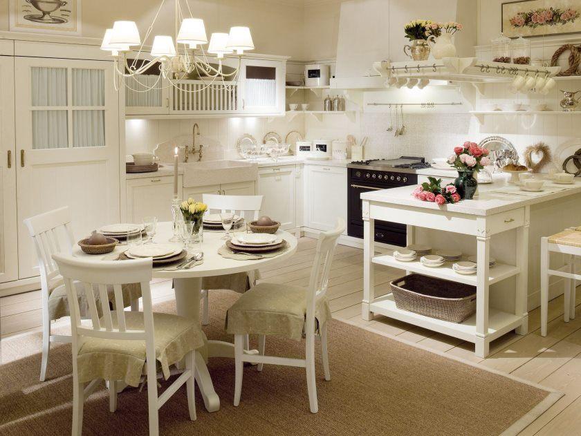 provencalsk stil-solid-træ-køkken-engelsk-humør-samling-by