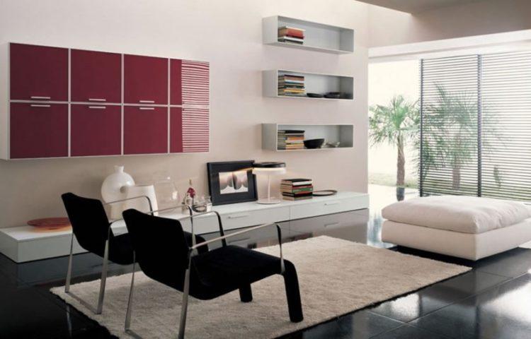 bedøvelse-ikea-møbler-lille-stue-udsmykning-ideer-viser-to-mørke-lounge-stol-med-krom-metal-rammer-on-rektangel-hvide-tæpper-også-kvadrat