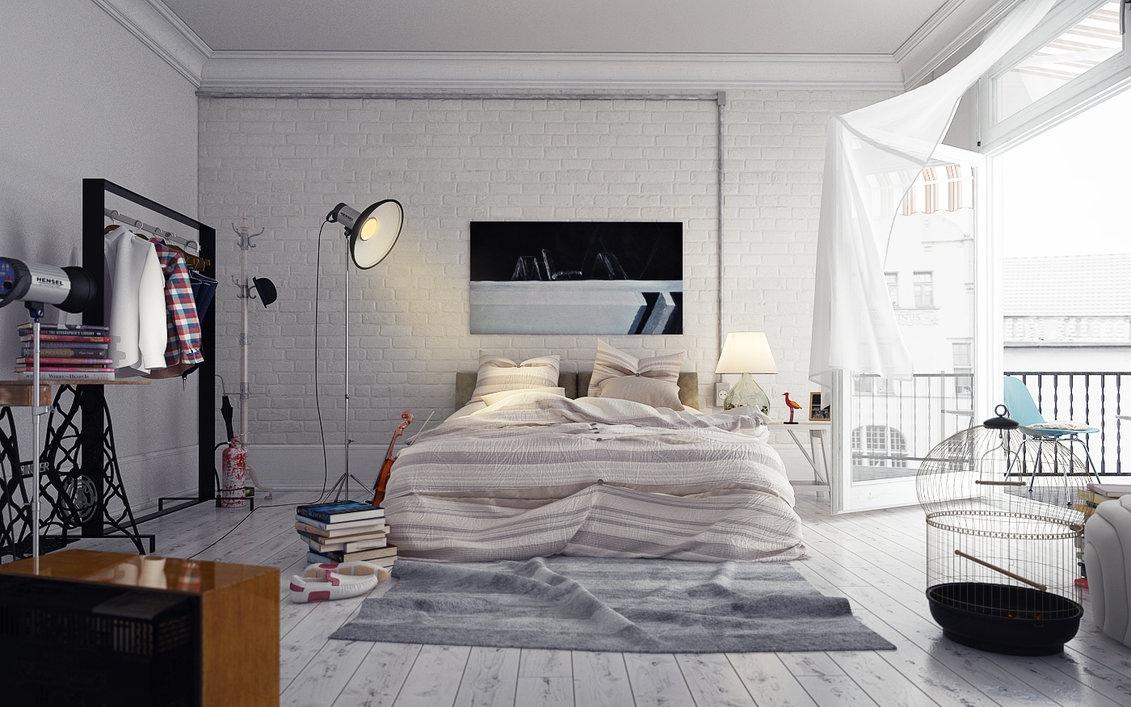 6-loft-stil-værelses