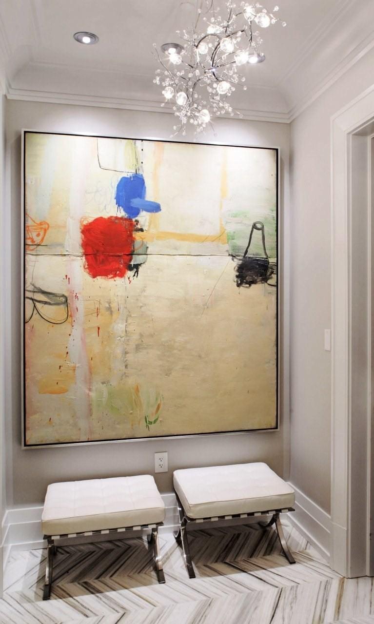 belle-couloir-décoration-avec-peinture