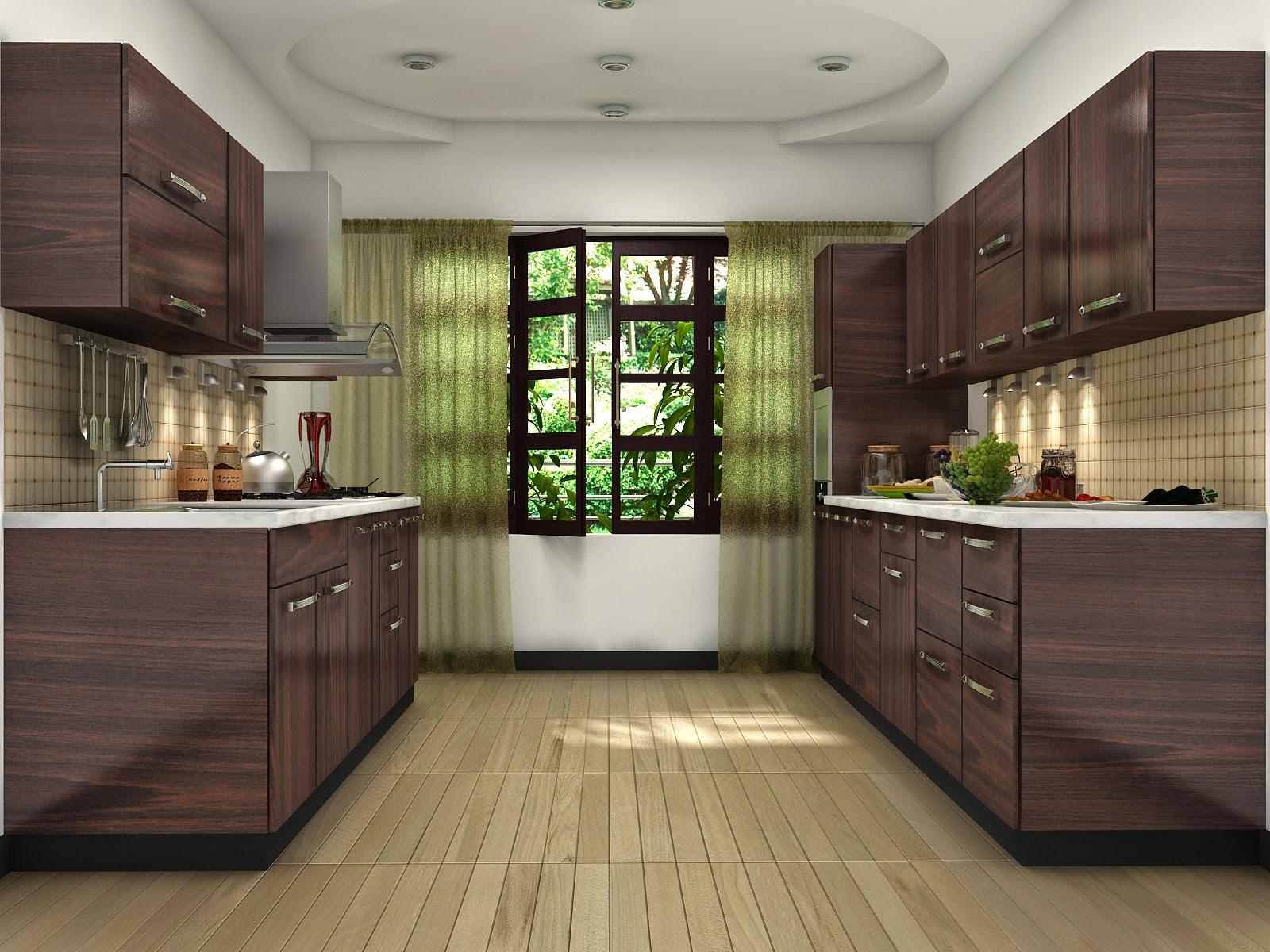 brun-farve-modulært-køkken