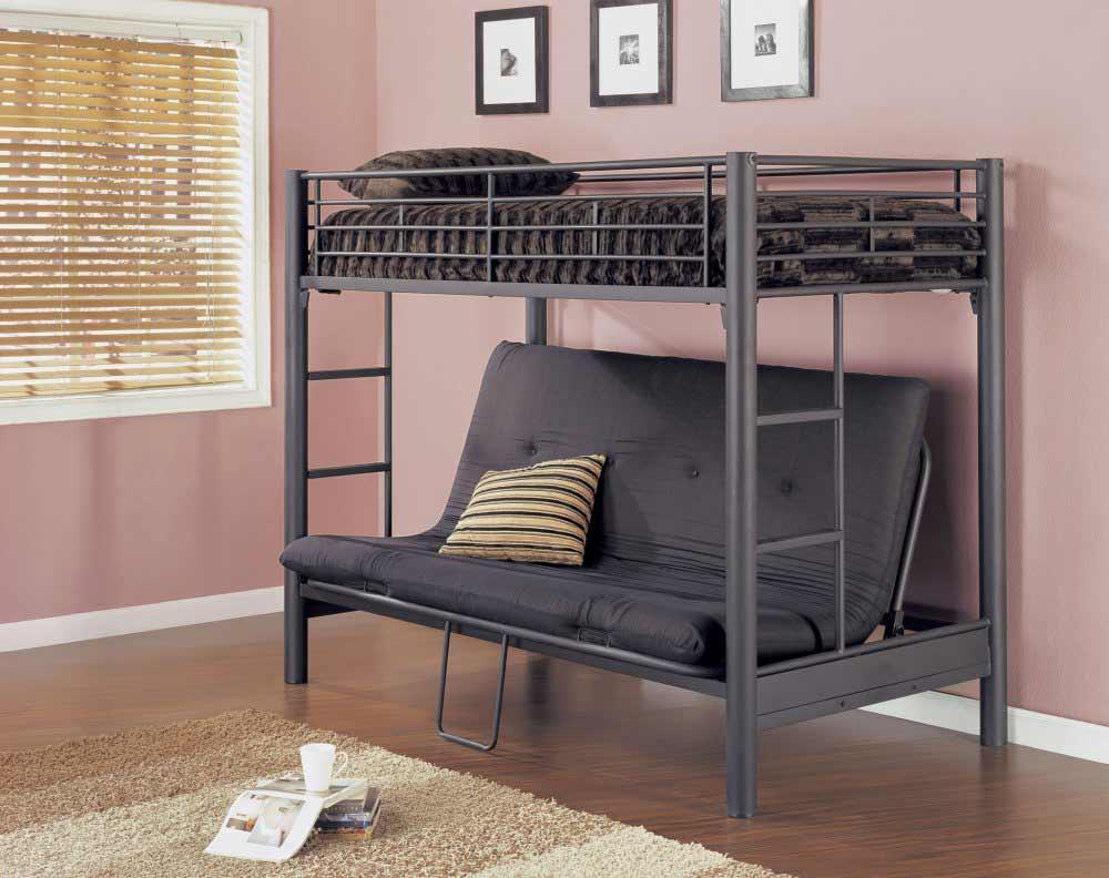 køjeseng-til-voksne-med-mat-sort-futon-møbler