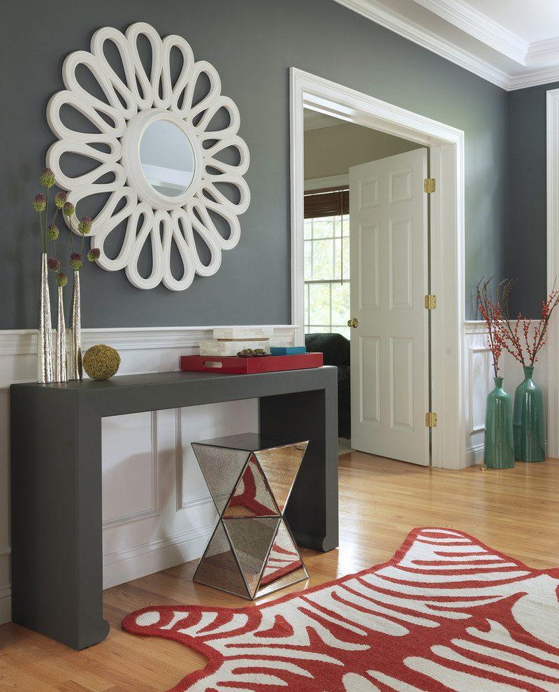 console-miroir-entrée-transitionnelle-avec-bois