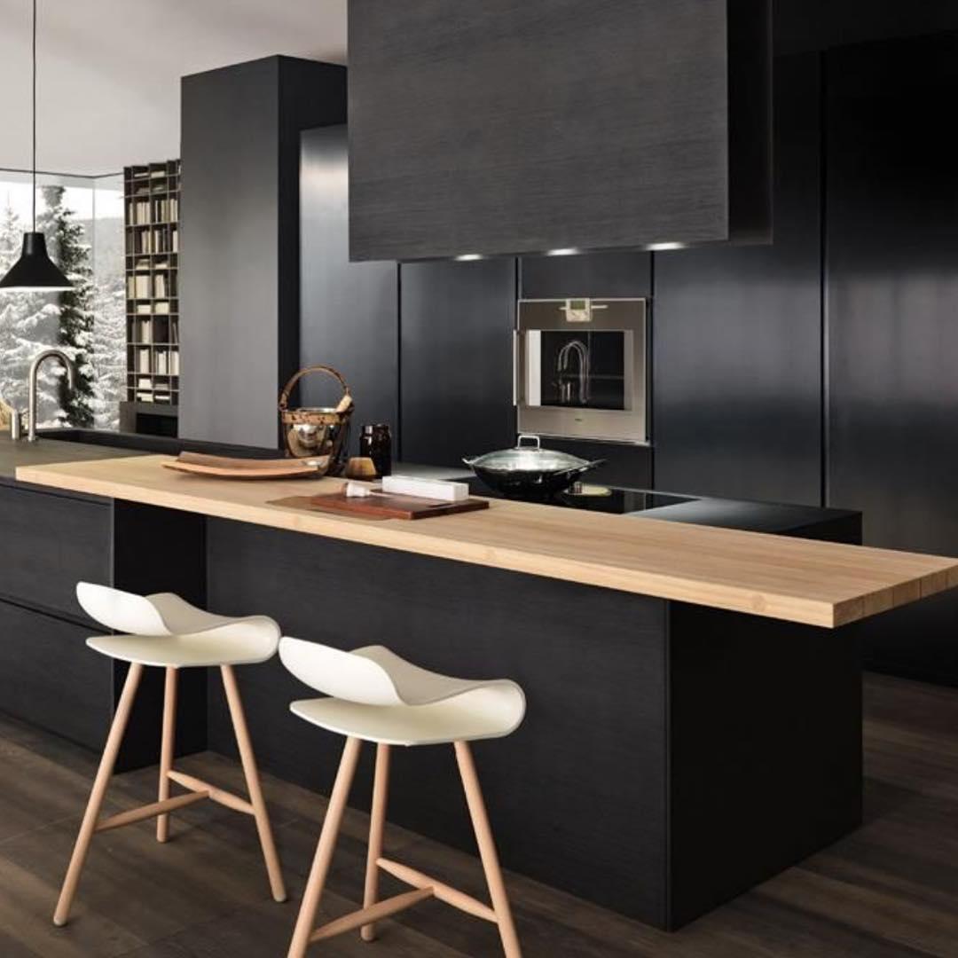 armoires de cuisine cool comme un hôtel noir