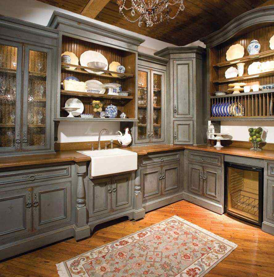 idées d'armoires de cuisine d'angle