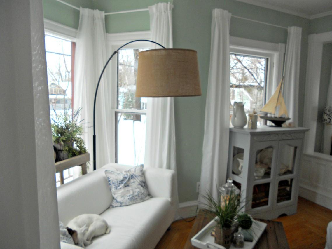 elegant-bue-gulv-lampe-shade