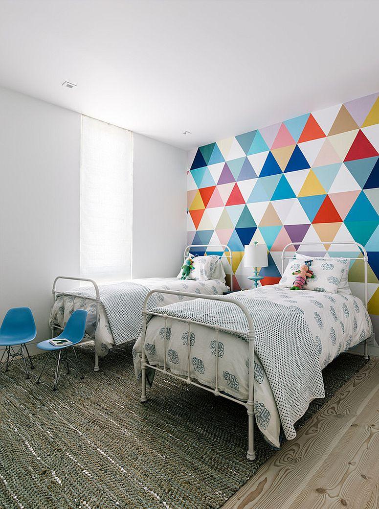 fabuleux-papier peint-ajoute-couleur-et-motif-à-la-chambre-cool