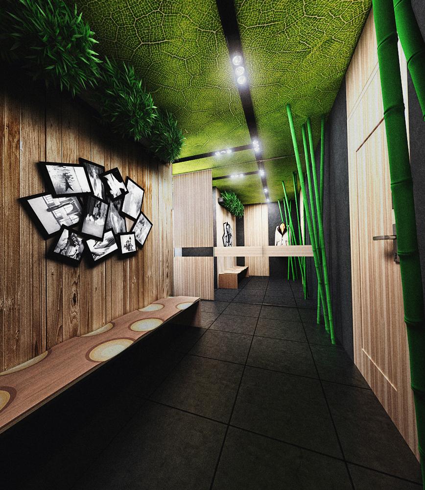 foto-3-glavnaja-ideja-otdelki-prihozhej-i-koridora-ispolzovat-naturalnye-tekstury-v-razreze-derevo-bambuk