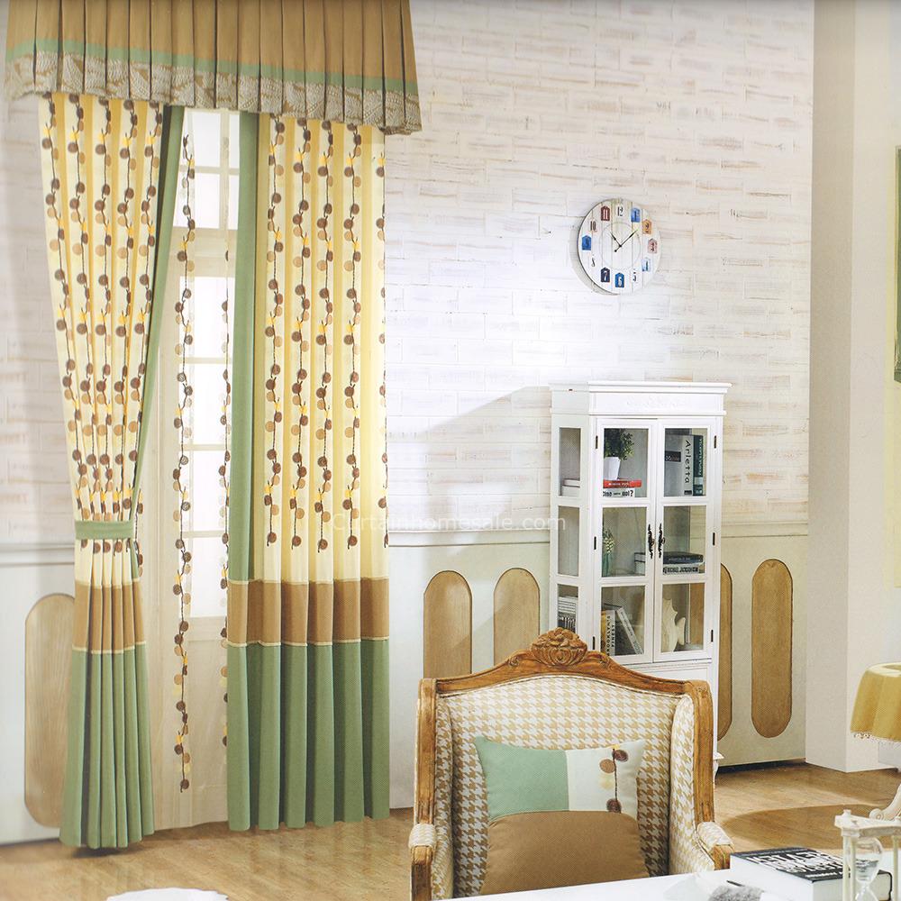 grøn-og-lys-beige-værelses-gardiner-no-Valance-2016-ny-ankomst-chs05181547165-1