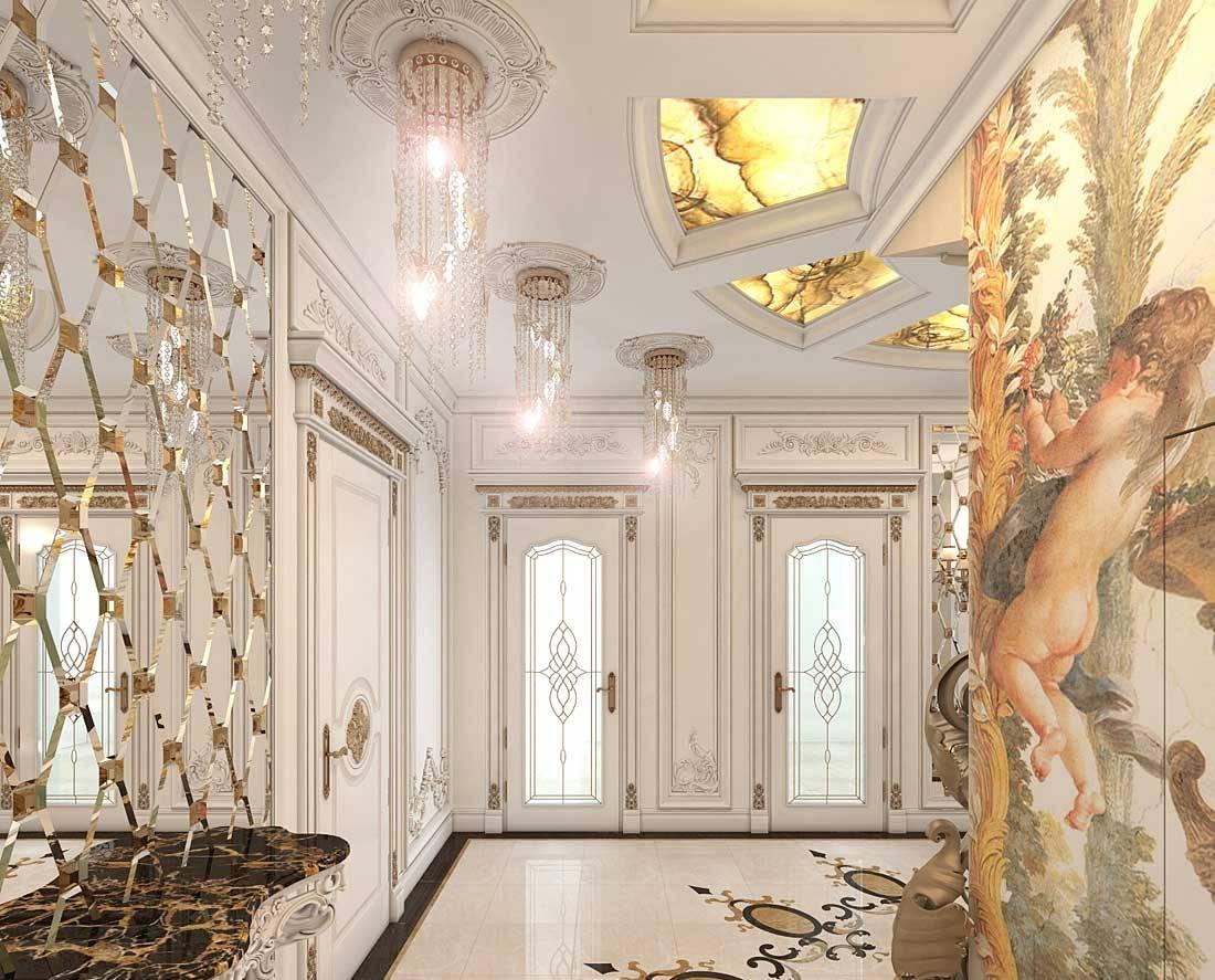 couloir dans une maison privée