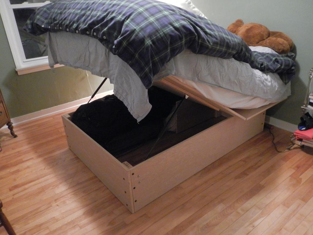 Smart Diy dronning sengsramme med opbevaring Alle opbevarings senge er også en slags oplagringsbedrammeplaner - senge med opbevaring