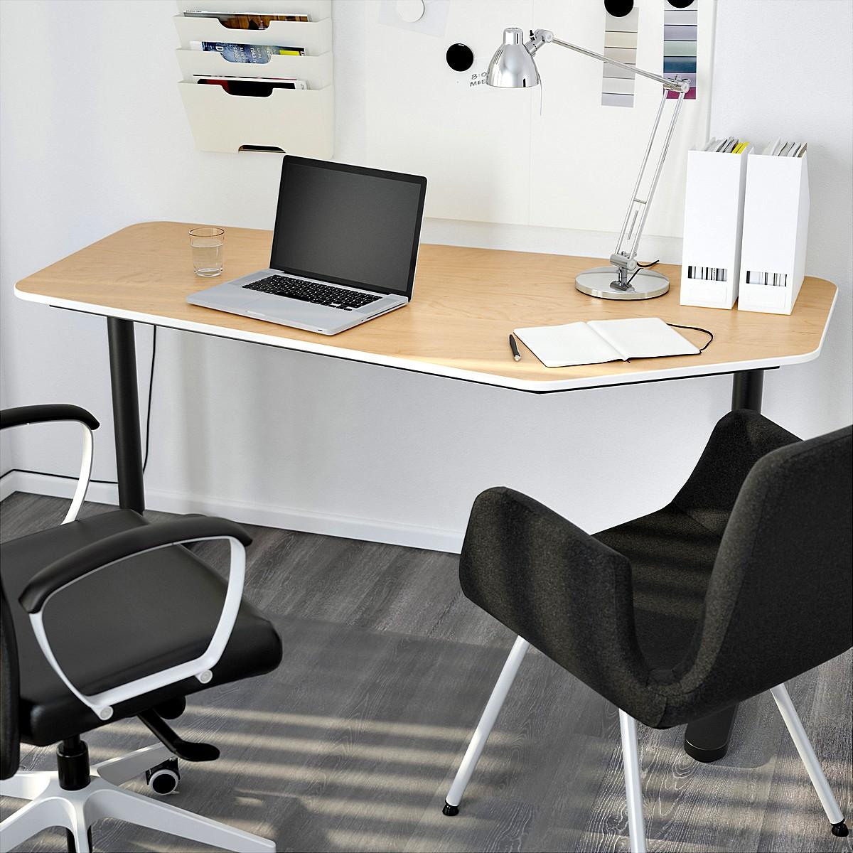 ikea-bekant-5-sidet-desk-til-kontor