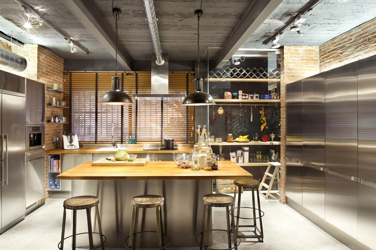 køkken-vedhæng-belysning-loft-stil-home-terrassa-spanien
