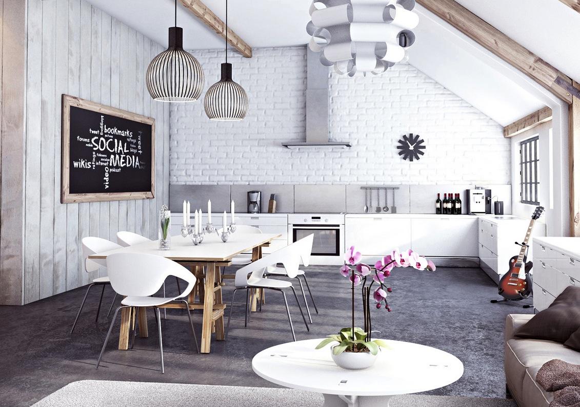 miysis-malet-hvid-mursten-åbent-køkken-stue-spisestue-interiør
