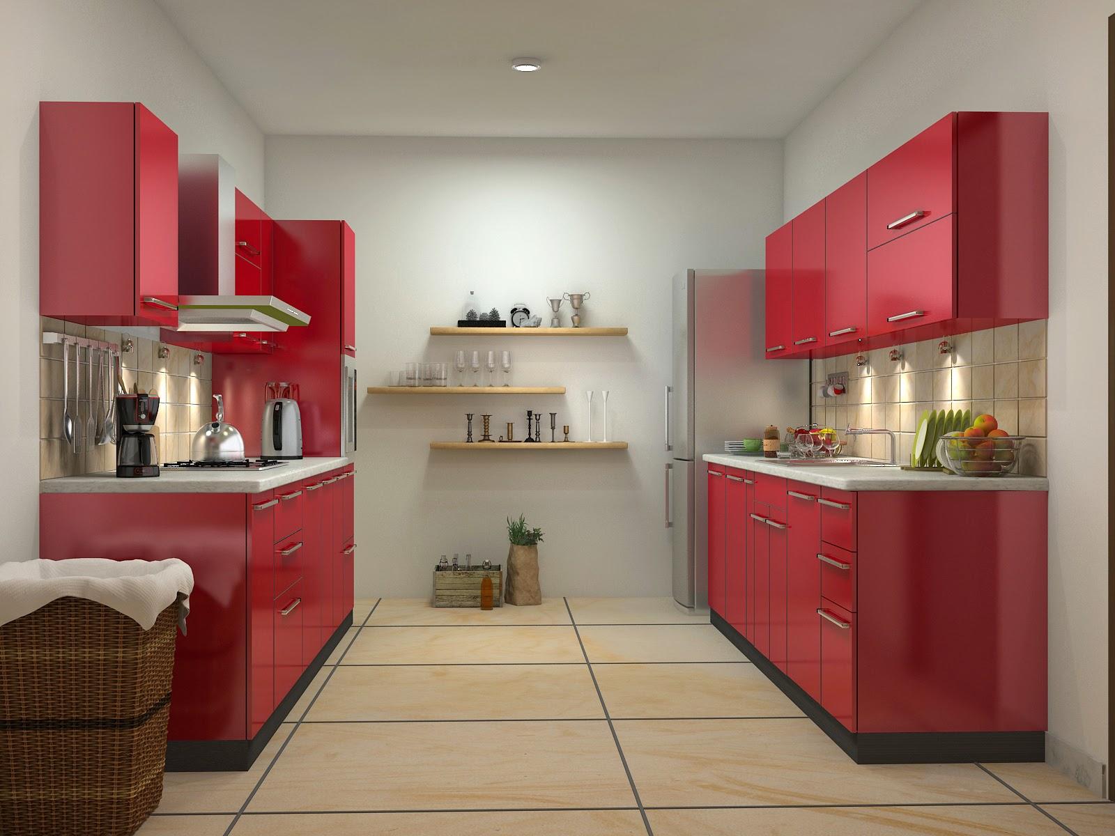rød-farve-modulære-køkkener