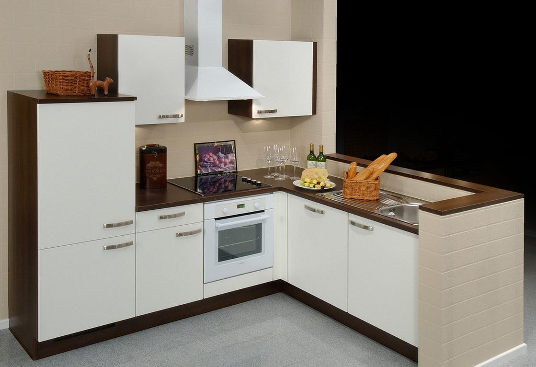 modèle d'armoire de cuisine simple d'angle blanc