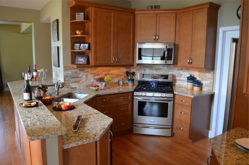 armoire de cuisine d'angle haut